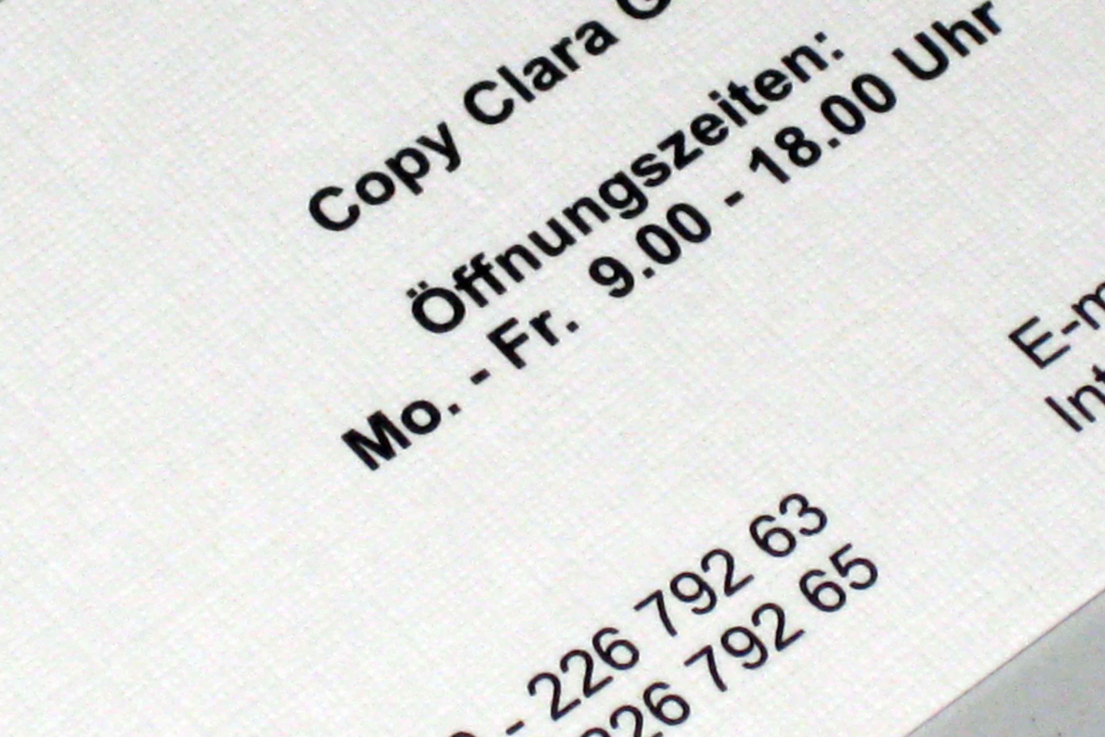 Visitenkarten Copy Clara