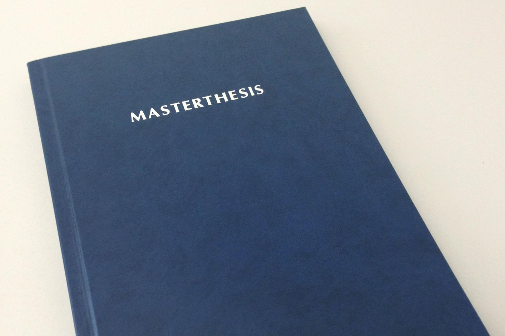 how to write a masters thesis pdf